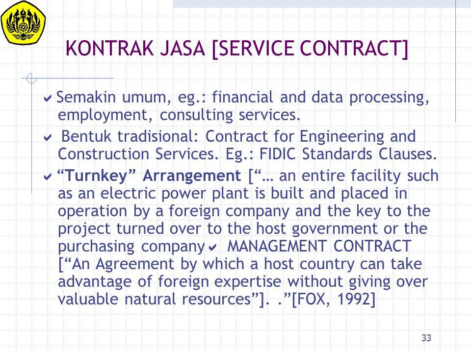 KONTRAK JASA [SERVICE CONTRACT]